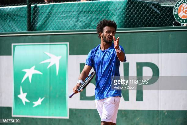 Maxime Hamou looks dejected during first round on day 2 of the French Open at Roland Garros on May 29 2017 in Paris France
