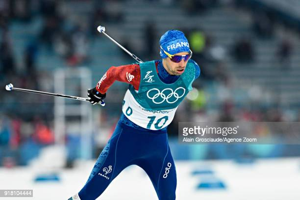 Maxime Laheurte of France in action during the Nordic Combined Normal Hill/10km at Alpensia CrossCountry Centre on February 14 2018 in Pyeongchanggun...