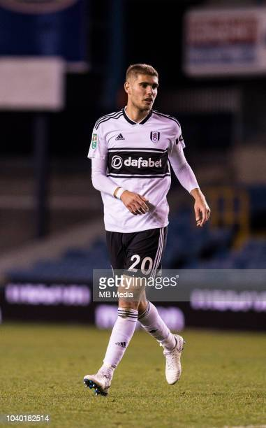 Maxime Le Marchand of Fulham during the Carabao Cup Third Round match between Millwall and Fulham at The Den on September 25 2018 in London England