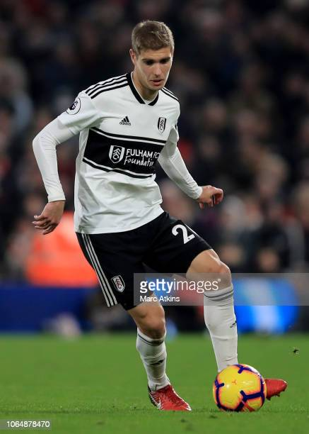 Maxime Le Marchand of Fulham during the Premier League match between Fulham FC and Southampton FC at Craven Cottage on November 24 2018 in London...