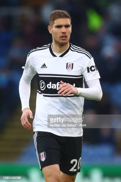 Maxime Le Marchand of Fulham during the Premier League match between Burnley FC and Fulham FC at Turf Moor on January 12 2019 in Burnley United...