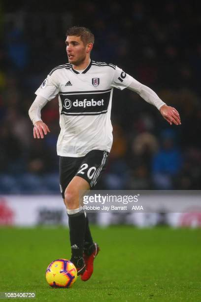 Maxime Le Marchand of Fulham during the Premier League match between Burnley FC and Fulham FC at Turf Moor on January 12, 2019 in Burnley, United...