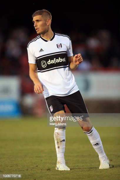 Maxime Le Marchand of Fulham during the PreSeason Friendly between Fulham v Sampdoria at the EBB Stadium on August 1 2018 in Aldershot England