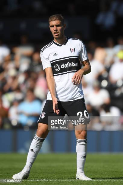 Maxime Le Marchand of Fulham looks on during a PreSeason Friendly between Fulham and Celta Vigo at Craven Cottage on August 4 2018 in London England