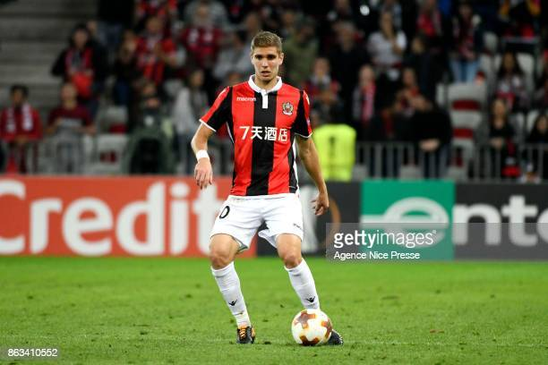 Maxime Le Marchand of Nice during the Europa League match between OGC Nice and Lazio Roma at Allianz Riviera on October 19, 2017 in Nice, France.
