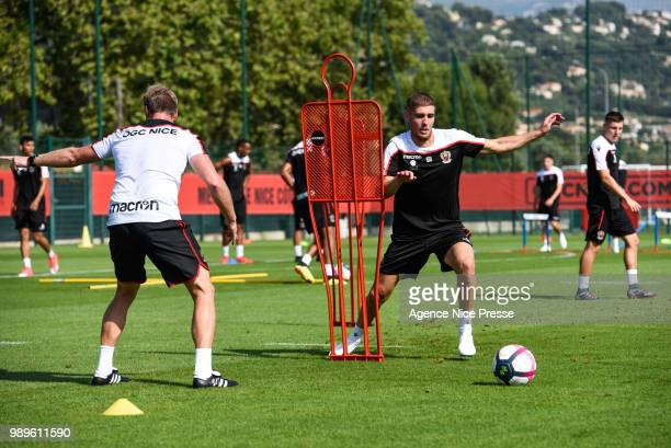 Maxime Le Marchand of Nice during the Training Session of OGC Nice on July 2, 2018 in Nice, France.