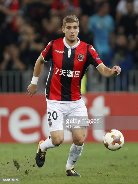 Maxime Le Marchand of OCG Nice during the UEFA Europa League group K match match between OGC Nice and Vitesse Arnhem on September 28, 2017 at the...