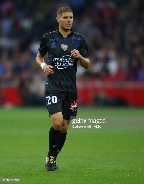 Maxime Le Marchand of OGC Nice during the UEFA Champions League Qualifying Third Round match between Ajax and OSC Nice at Amsterdam Arena on August...