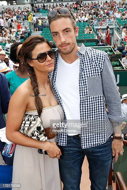 Maxime Leconte and companion Julia sighting at Roland Garros Tennis French Open 2013 Day 14 on June 8 2013 in Paris France