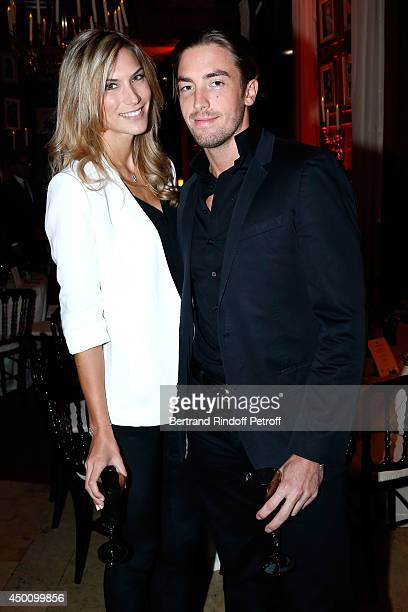 Maxime Leconte and his companion attend the Legends of Tennis Dinner Held at Restaurant Fouquet's whyle Roland Garros French Tennis Open 2014 on June...
