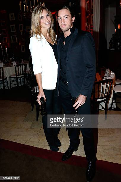 Maxime Leconte and his companion attend the Legends of Tennis Dinner. Held at Restaurant Fouquet's whyle Roland Garros French Tennis Open 2014 on...