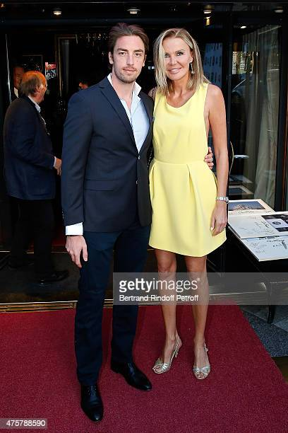 Maxime Leconte and his Mother in Law Florentine Leconte attend the Trophee des Legendes Dinner at Le Fouquet's, champs Elysees on June 3, 2015 in...