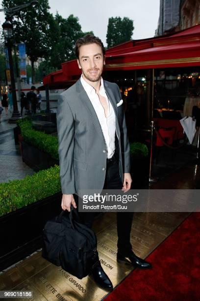 """Maxime Leconte attends """"Diner des Legendes"""" at Le Fouquet's on June 6, 2018 in Paris, France."""