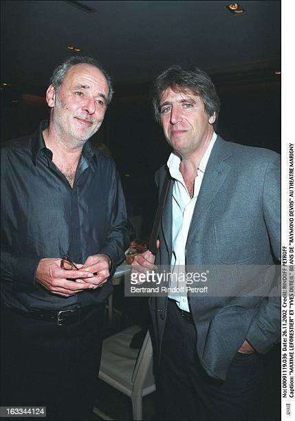 Maxime Leforestier and Yves Duteil Raymond Devos 80th birthday at the Marigny theater
