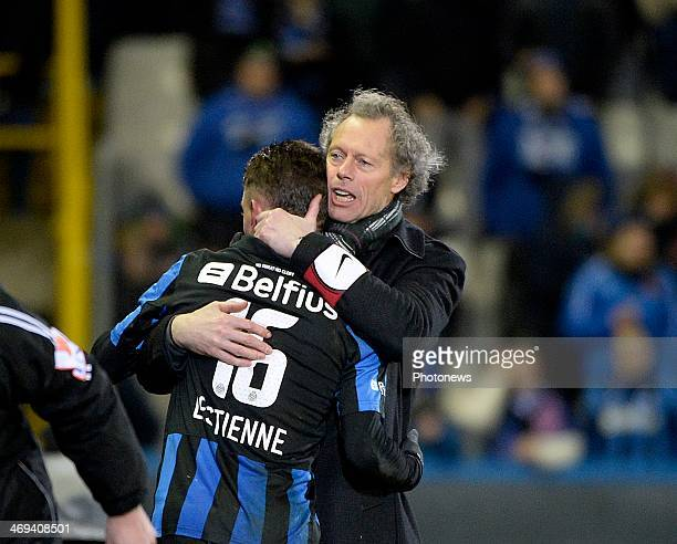 Maxime Lestienne of Club Brugge and head coach Michel Preud'Homme of Club Brugge during the Jupiler Pro League match between Club Brugge and KV...
