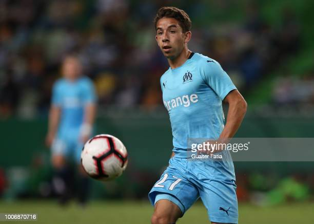 Maxime Lopez from Olympique de Marseille in action during the PreSeason Friendly match between Sporting CP and Olympique de Marseille at Estadio Jose...