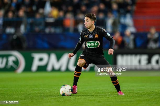 Maxime LOPEZ of Marseille during the French Cup Soccer match between US Granville and Olympique de Marseille at Stade Michel D'Ornano on January 17...
