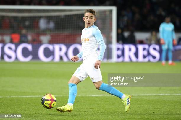 Maxime Lopez of Marseille during the French Ligue 1 match between Paris SaintGermain and Olympique de Marseille at Parc des Princes stadium on March...