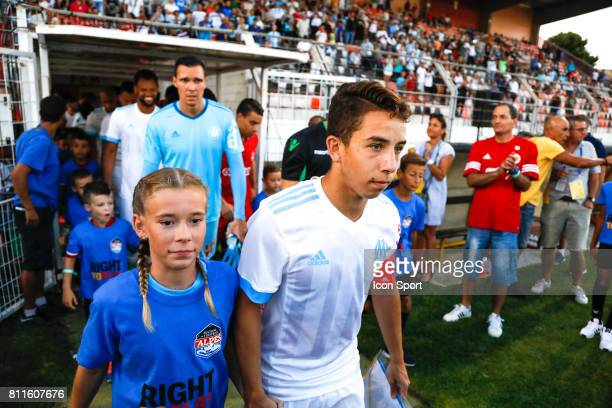 Maxime Lopez of Marseille during the friendly match between Olympique de Marseille and Etoile Sportive du Sahel on July 9 2017 in Martigues France