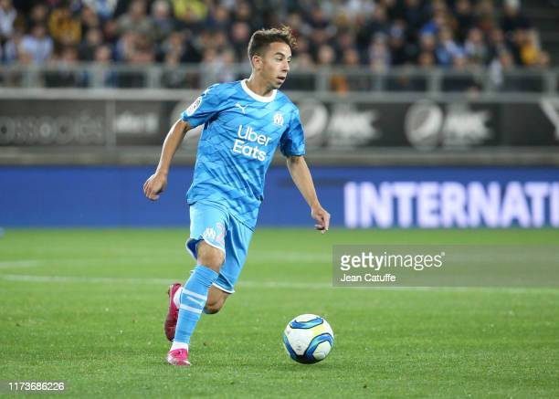 Maxime Lopez of Marseille during the Ligue 1 match between Amiens SC and Olympique de Marseille at Stade de La Licorne on October 4, 2019 in Amiens,...