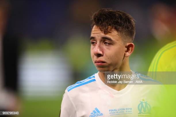Maxime Lopez of Marseille looks dejected at the end of the UEFA Europa League Final between Olympique de Marseille and Club Atletico de Madrid at...