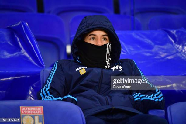 Maxime Lopez of Marseille on the bench during the Ligue 1 match between Olympique Lyonnais and Olympique Marseille at Parc Olympique on December 17...