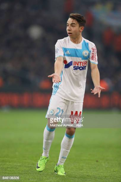 Maxime Lopez of Olympique de Marseille during the French Ligue 1 match Marseille and Paris Saint Germain at Stade Velodrome on February 26 2017 in...