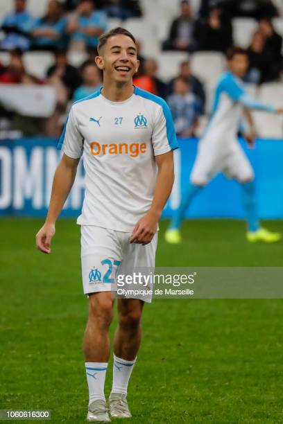 Maxime Lopez of Olympique de Marseille during the ligue 1 match between Olympique de Marseille at Stade Velodrome on November 11 2018 in Marseille...