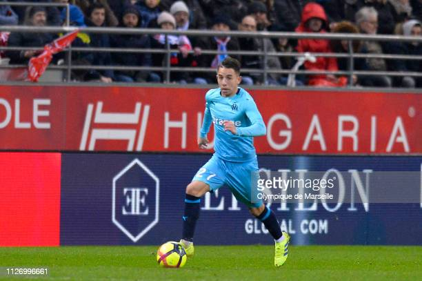Maxime Lopez of Olympique de Marseille runs with the ball during the Ligue 1 match between Olympique de Marseille and Stade de Reims at Stade Auguste...
