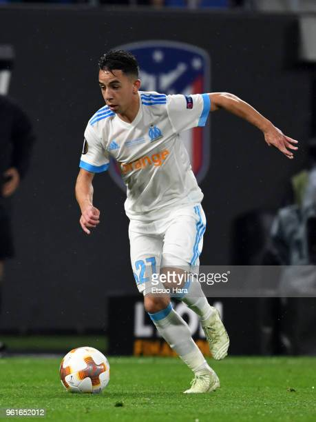 Maxime Lopez of Olympique Marseille in action during the UEFA Europa League Final between Olympique de Marseille and Club Atletico de Madrid at Stade...