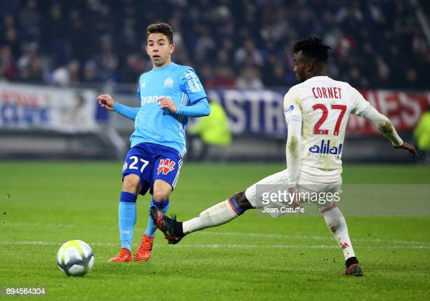 Maxime Lopez of OM during the French Ligue 1 match between Olympique Lyonnais and Olympique de Marseille at Groupama Stadium on December 17 2017 in...