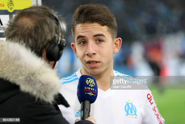 Maxime Lopez of OM during the French Ligue 1 match between Olympique de Marseille OM and Olympique Lyonnais OL at Stade Velodrome on March 18 2018 in...