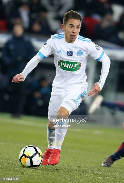 Maxime Lopez of OM during the French National Cup match between Paris Saint Germain and Olympique de Marseille at Parc des Princes stadium on...