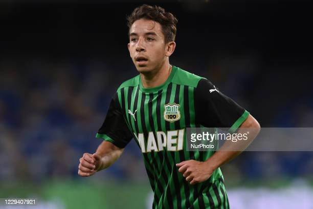 Maxime Lopez of US Sassuolo during the Serie A match between SSC Napoli and US Sassuolo at Stadio San Paolo Naples Italy on 1 November 2020.