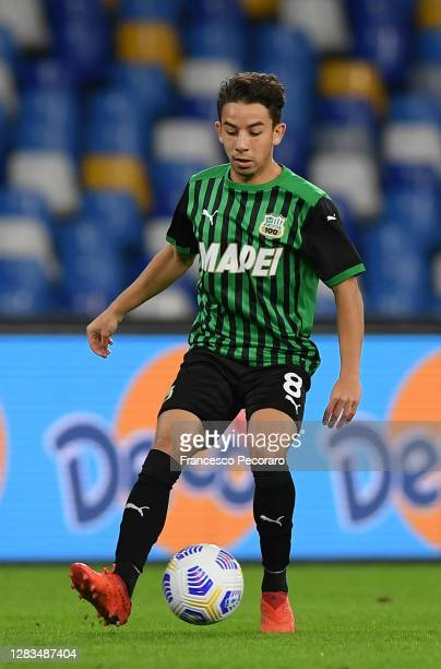 Maxime Lopez of US Sassuolo during the Serie A match between SSC Napoli and US Sassuolo at Stadio San Paolo on November 01, 2020 in Naples, Italy.