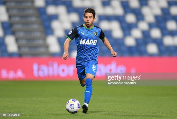 Maxime Lopez of US Sassuolo in action during the Serie A match between US Sassuolo and SS Lazio at Mapei Stadium - Citta' del Tricolore on May 23,...