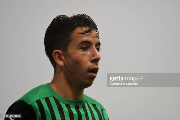 Maxime Lopez of US Sassuolo looks on during the Serie A match between US Sassuolo and Torino FC at Mapei Stadium - Città del Tricolore on October 23,...