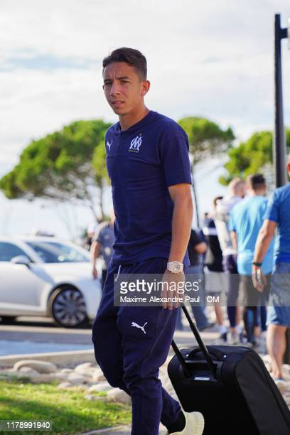 Maxime Lopez prior to the Ligue 1 match between Amiens SC and Olympique Marseille at Stade Crédit Agricole La Licorne on October 04, 2019 in Amiens,...
