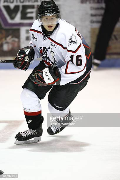 Maxime Macenauer of the Rouyn-Noranda Huskies skates during the game against the Drummondville Voltigeurs at the Centre Marcel Dionne on January 04,...