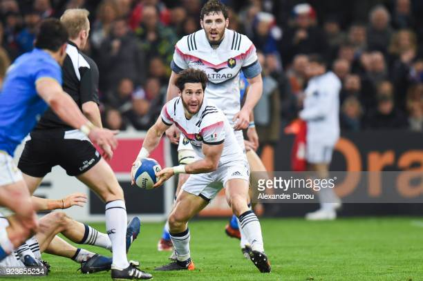 Maxime Machenaud of France during the NatWest Six Nations match between France and Italy at Stade Velodrome on February 23 2018 in Marseille France