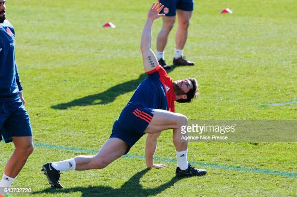 Maxime Machenaud of France during the training session of the France rugby team at on February 21 2017 in Nice France