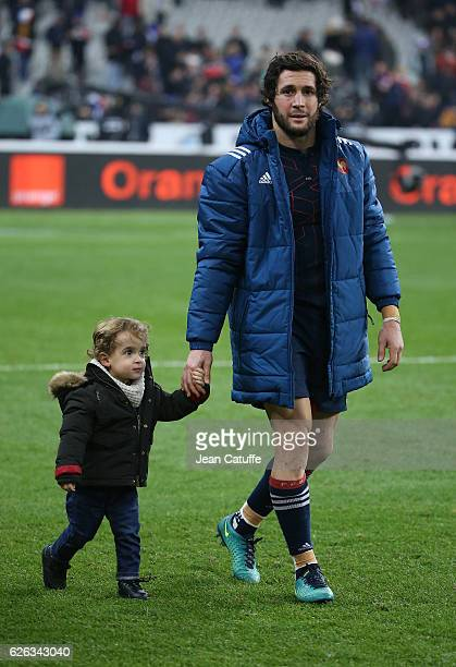 Maxime Machenaud of France looks on following the international friendly test match between France and New Zealand at Stade de France on November 26...