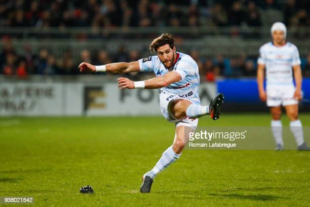 Maxime Machenaud of Racing 92 during the Top 14 match between Lyon and Racing 92 at on March 25 2018 in Lyon France