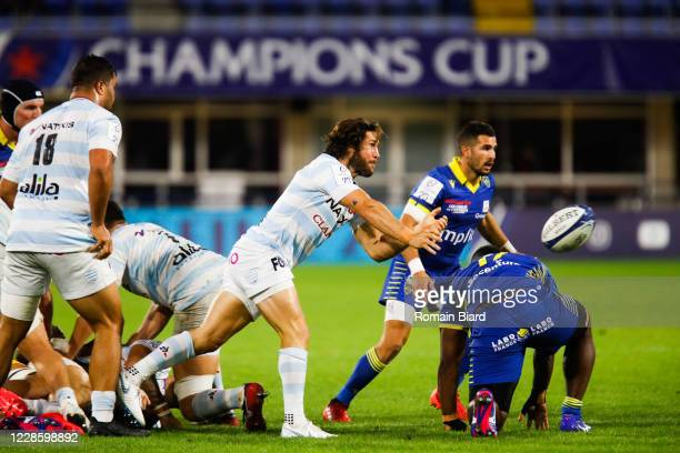 Maxime MACHENAUD of Racing92 during the Quarter-Final Champions Cup match between Clermont and Racing92 at Stade Marcel Michelin on September 19,...