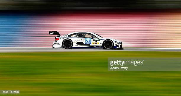 Maxime Martin of BMW Team RMG in action during qualifying for race 2 of the DTM German Touring Car Hockenheim at Hockenheimring on October 18 2015 in...