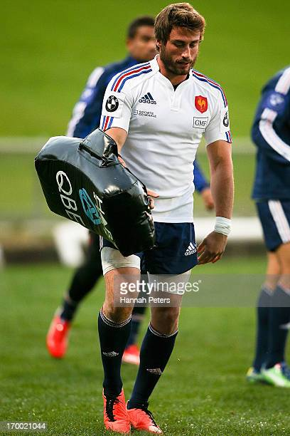 Maxime Medard looks on during a France rugby training session at North Harbour Stadium on June 6 2013 in Auckland New Zealand
