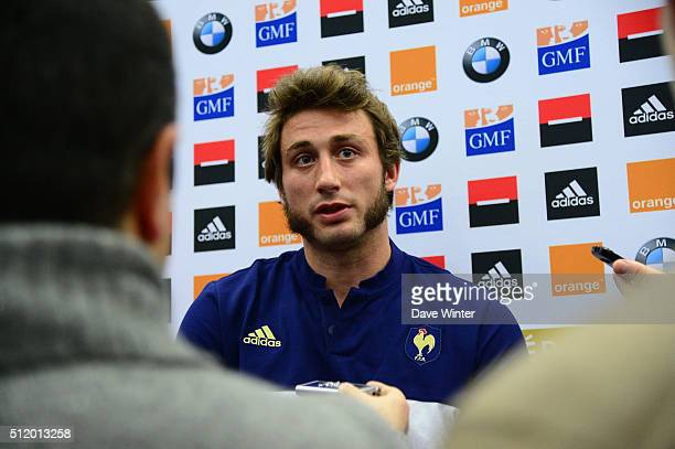 Maxime MEDARD of France during the Press Conference at the French Rugby Union team at Centre national de rugby ahead of their six nations match...