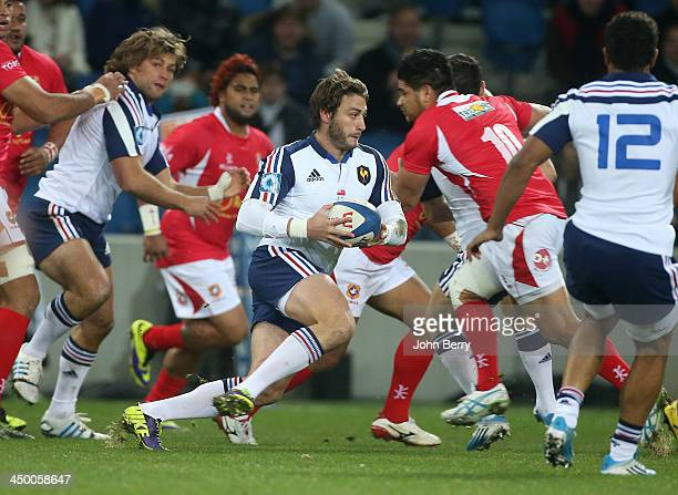 Maxime Medard of France in action during the international match between France and Tonga at the Oceane Stadium on November 16 2013 in Le Havre France