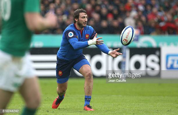 Maxime Medard of France in action during the RBS 6 Nations match between France and Ireland at Stade de France on February 13 2016 in SaintDenis...