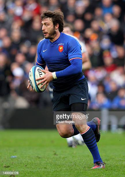Maxime Medard of France in action during the RBS Six Nations match between Scotland and France at Murrayfield Stadium on February 26 2012 in...